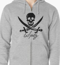 """Pirates of Penzance- """"Hail Poetry"""" Zipped Hoodie"""