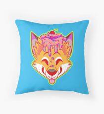 Cupcake Fox Throw Pillow
