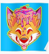 Cupcake Fox Poster