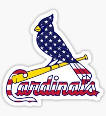 St Louis Cardinals Flag Logo Sticker