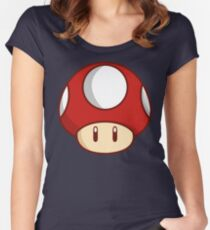 Mario Mushroom Women's Fitted Scoop T-Shirt