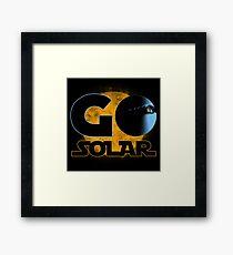 Go Solar Framed Print