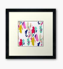 Acrylic paint brush stroke pattern. Framed Print
