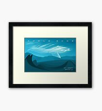 Whale Song part 3 Framed Print