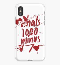 1000-7 iPhone Case/Skin