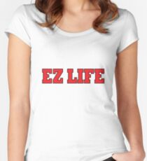 EZ LIFE (Red) Women's Fitted Scoop T-Shirt