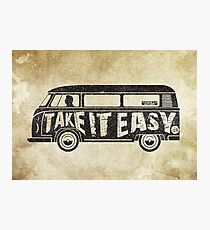 Take it Easy - Tribute Photographic Print