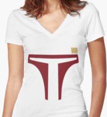 Boba Fett Women's Fitted V-Neck T-Shirt