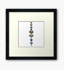 Lovely Coloured Planets Framed Print