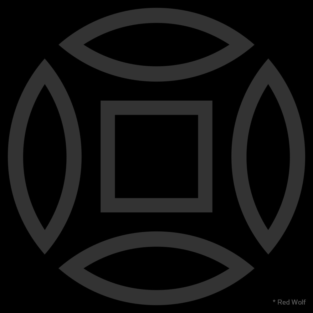 Geometric Pattern: Intersect Outline: Black/Charcoal by * Red Wolf