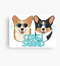 CORGI SQUAD - (The Doctor and the Queen) Canvas Print