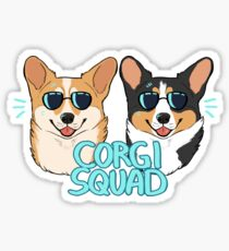 CORGI SQUAD - (The Doctor and the Queen) Sticker