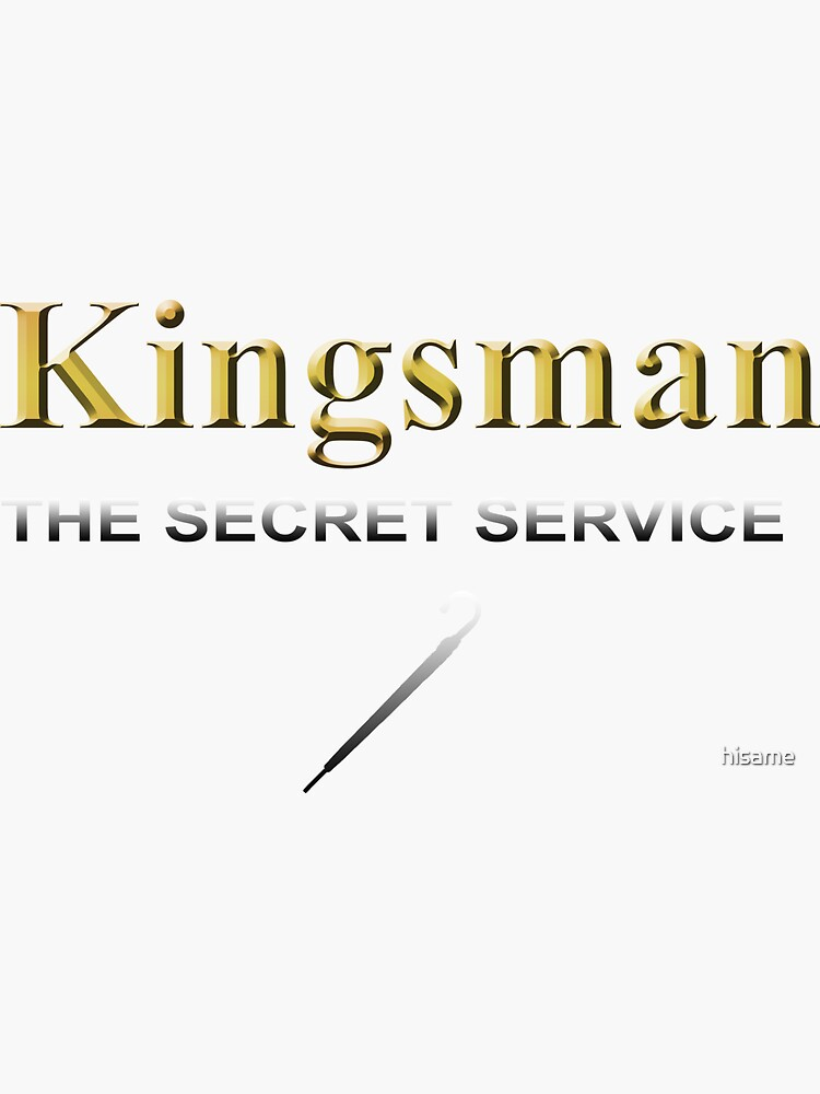 Kingsman Title Gold Umbrella  by hisame