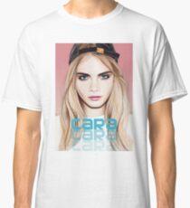 Cara Delevingne pencil portrait 2 Classic T-Shirt