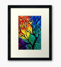 Colorful Tree Framed Print