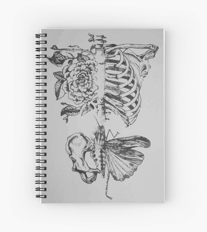Cuadernos de espiral «Anatomía suave» de redko | Redbubble