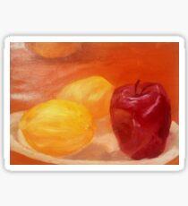 Fruit on Plate Still Life Sticker