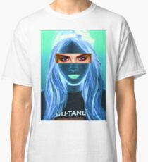 Cara Delevingne pencil portrait 5 Classic T-Shirt