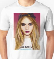 Cara Delevingne pencil portrait 4 T-Shirt