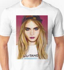 Cara Delevingne pencil portrait 4 Unisex T-Shirt