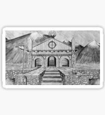 Golden Hall of Edoras Sticker