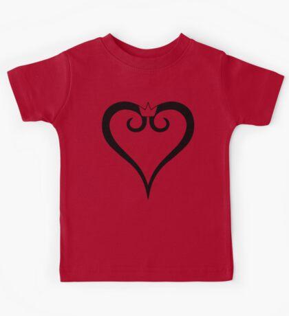 Kingdom Hearts Logo (Black) Kids Clothes