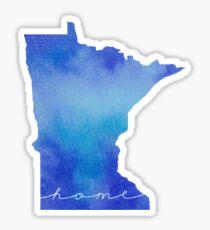 Minnesota watercolor home Sticker