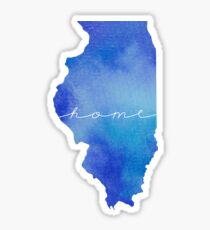 Illinois watercolor home Sticker