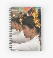 Girls in Marching Contest Spiral Notebook