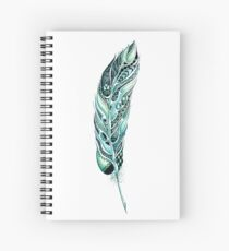 Tribal Feather Illustration Spiral Notebook
