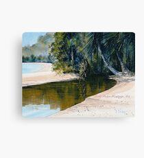 """Tidal Creek, Dunk Island"" Canvas Print"