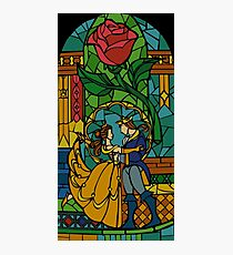 Beauty and The Beast - Stained Glass Photographic Print