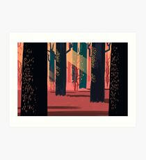Flat Stamp Forest Art Print