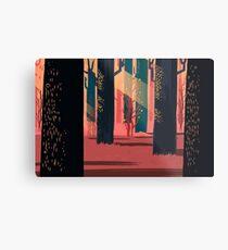 Flat Stamp Forest Metal Print
