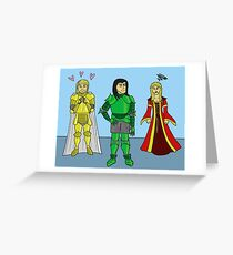 Knightly Infatuation Greeting Card