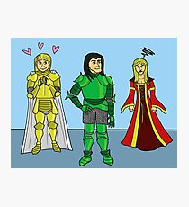 Knightly Infatuation Photographic Print