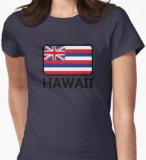 National Flag of Hawaii Womens Fitted T-Shirt
