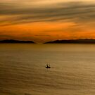 Ship Sailing amongst the sunset by Kgphotographics