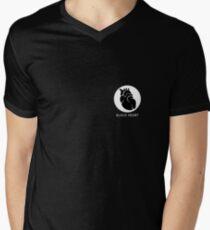 Black heart Men's V-Neck T-Shirt