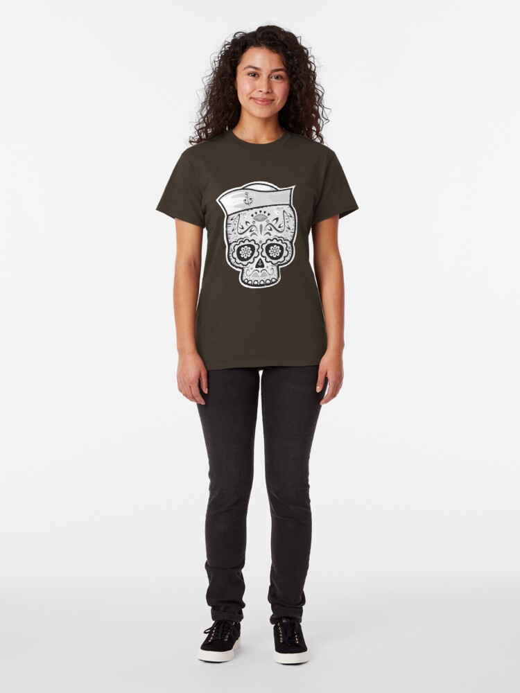 Alternate view of Marinero muerto sugar skull Classic T-Shirt