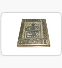 Decorated silver Passover Haggadah On white Background Sticker