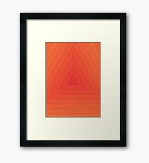 Triangle Dimension (Orange) Framed Print