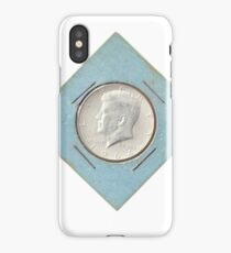Silver Kennedy Half Dollar 1964 collector's item  iPhone Case/Skin