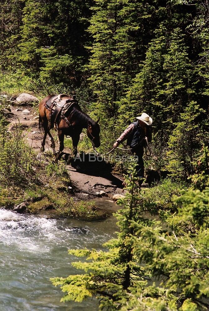 Cowboy and Horse by Al Bourassa