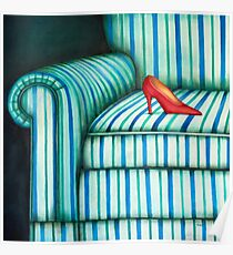 Armchair and shoe Poster
