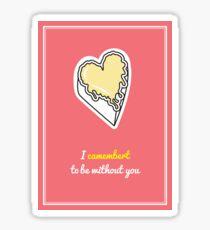 Cheesy Hearts - Camembert Sticker