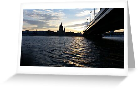 The Danube in Vienna by simonclark8