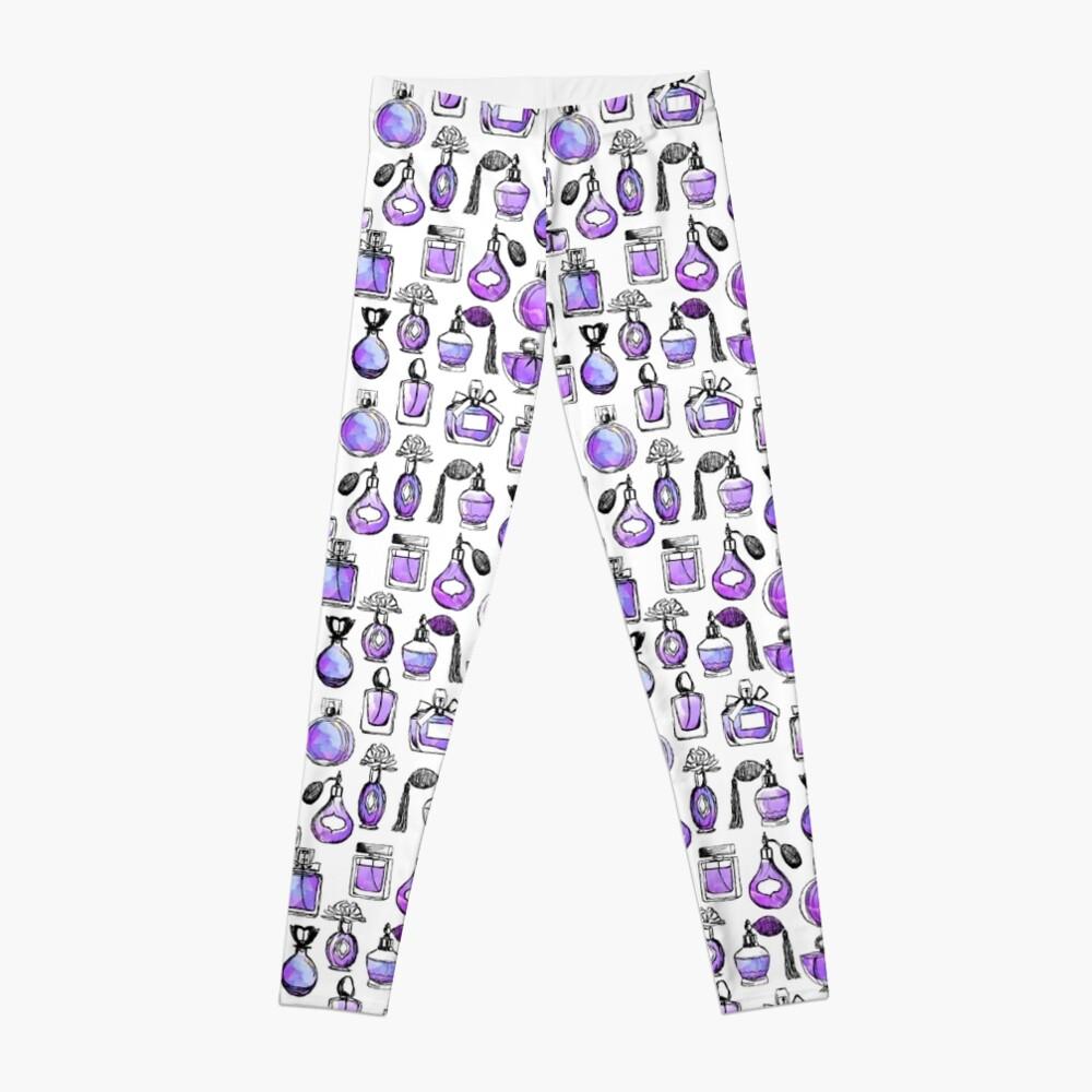 Perfume love valentines watercolor // lilac purple andrea lauren Leggings