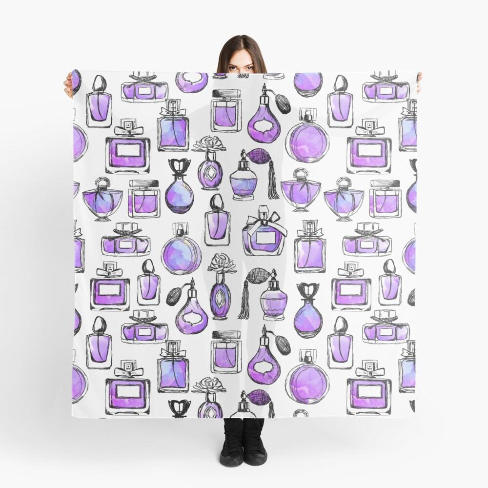 Perfume love valentines watercolor // lilac purple andrea lauren Scarf