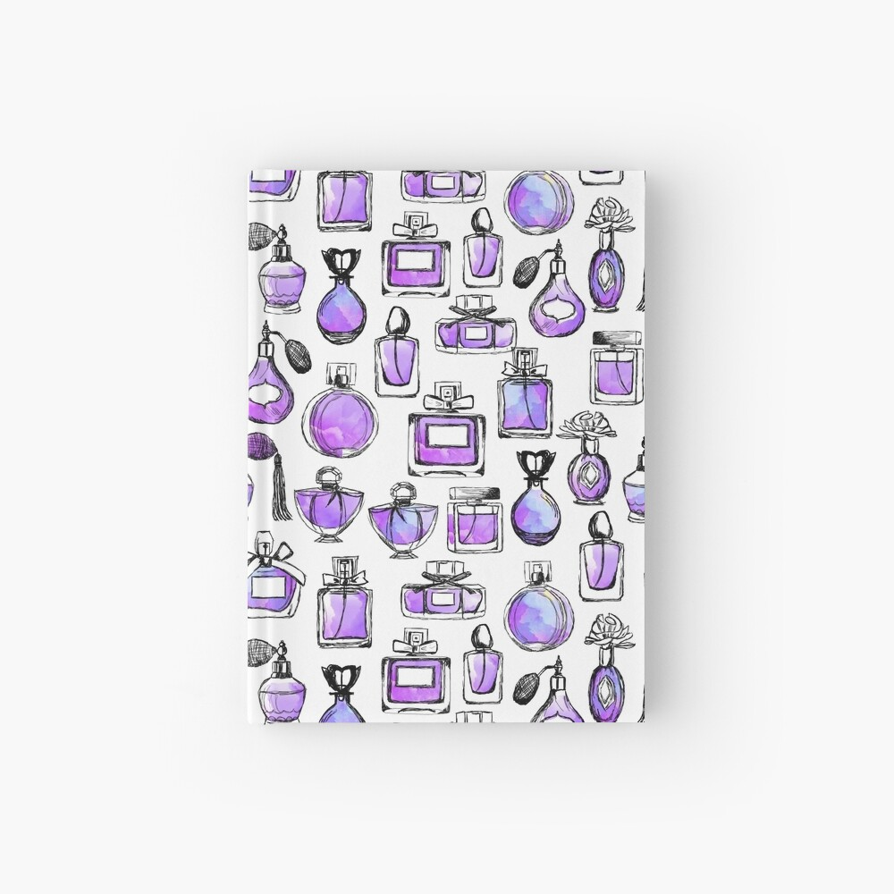 Perfume love valentines watercolor // lilac purple andrea lauren Hardcover Journal